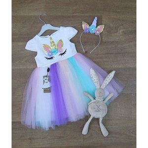 Фотография детское нарядное платье единорог Миратекс