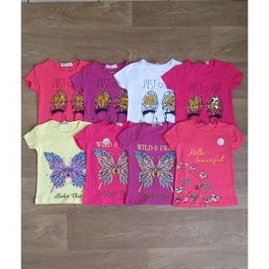 Фотография детская футболка на девочку турецкая Миратекс