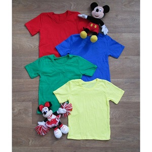 Фотография детская футболка однотонная Миратекс