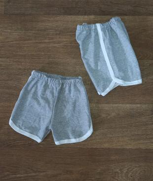 Детские спортивные серые шорты, двухнитка