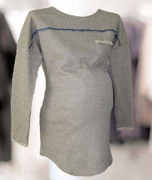 Теплая туника с длинным рукавом для беременных, футер