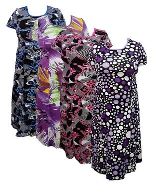 Женское платье с карманами (батал), вискоза