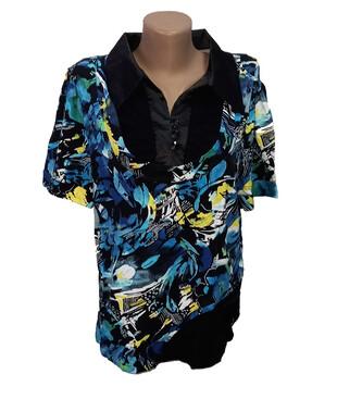 Женская рубашка с коротким рукавом, вискоза