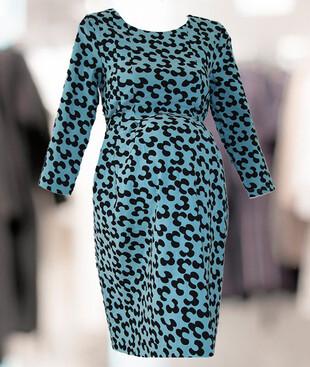 Женское платье с поясом для беременных, трикотаж