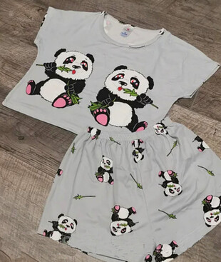 Женская пижама летняя (футболка  + шорты), коттон