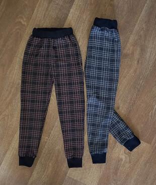 Детские штаны зауженые, двухнитка