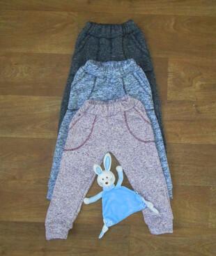 Штаны детские с карманами, трехнитка вязаная (плотная)