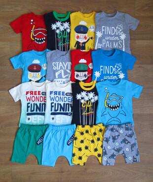 футболка с шортами для малышей Турция