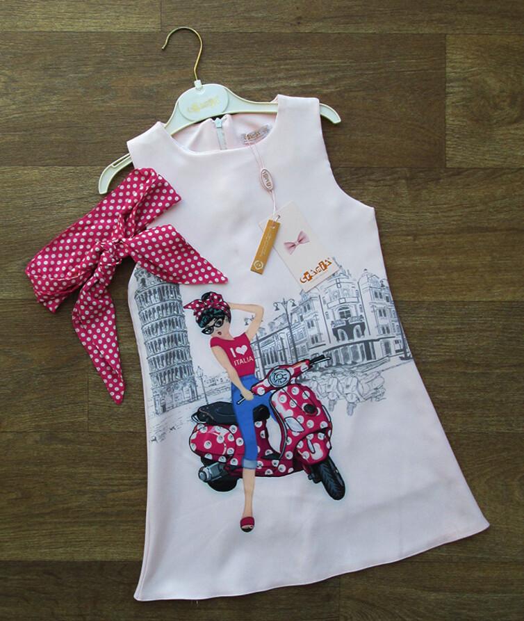Платье для девочки с повязкой Турция