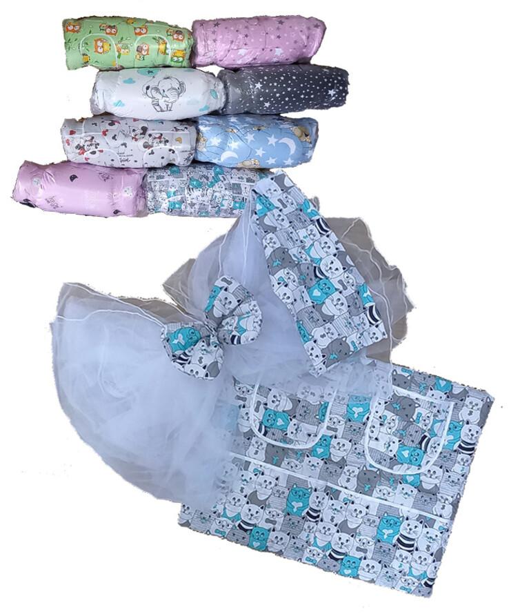 Комплект в кроватку одеяло подушка постель защита балдахин