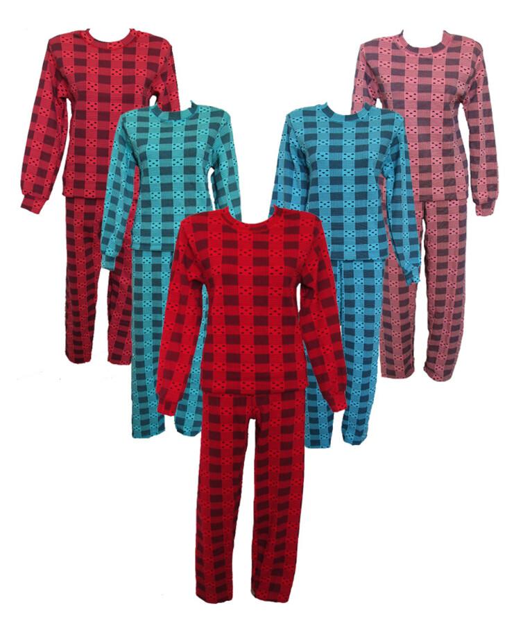 Теплая стрейчевая женская пижама