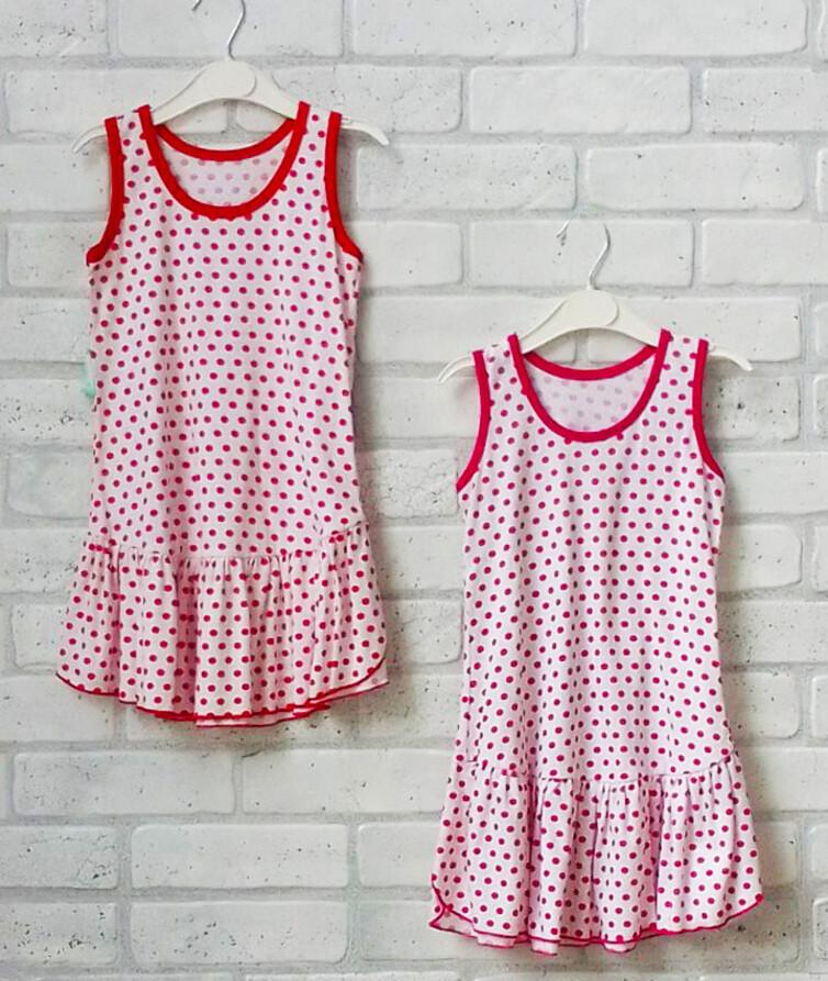 Платье для девочки кулир