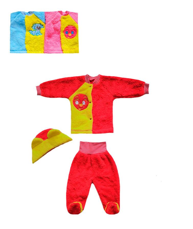 Комплект для новорожденных с вышивкой, травка