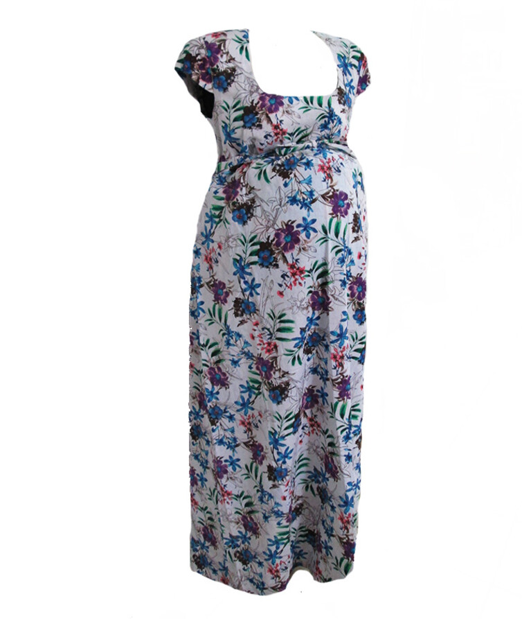 Женское платье для будущих мам длинное, лен