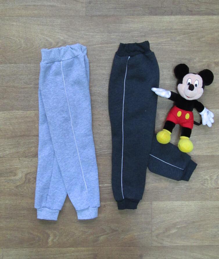 Детские спортивные штаны теплые с кантиком, трехнитка