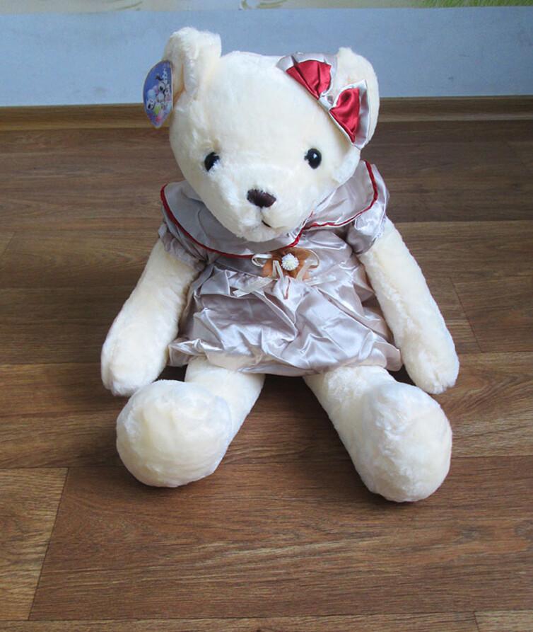 Мягкий мишка в платье 55 см.