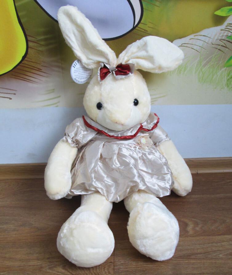 Заяц в платье большой 56 см.