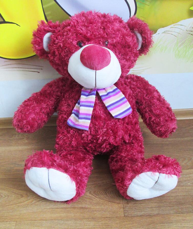 Медведь мягкий большой с шарфиком 68 см.