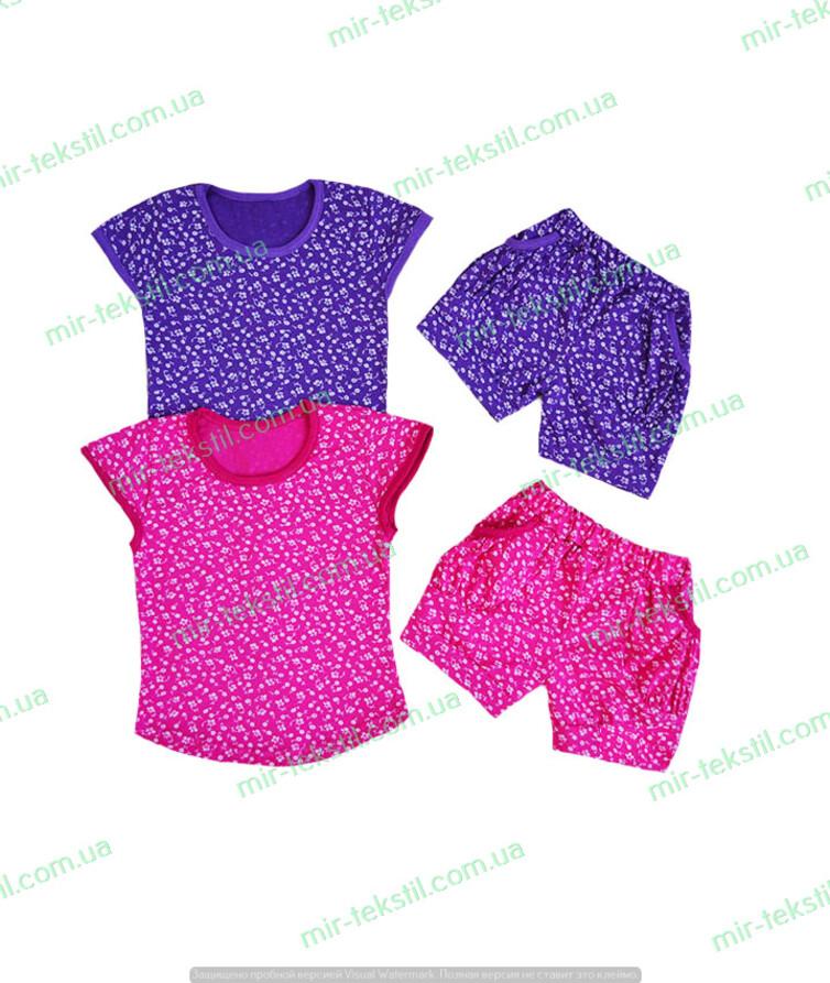 Летний костюм для девочки с шортами