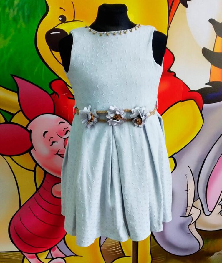 Детское нарядное платье Турция 80% хлопок, 20% полиэстр
