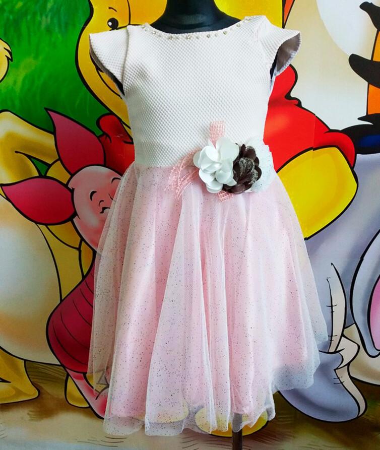 Шифоновое нарядное платье на девочку Турция 100% полиэстр