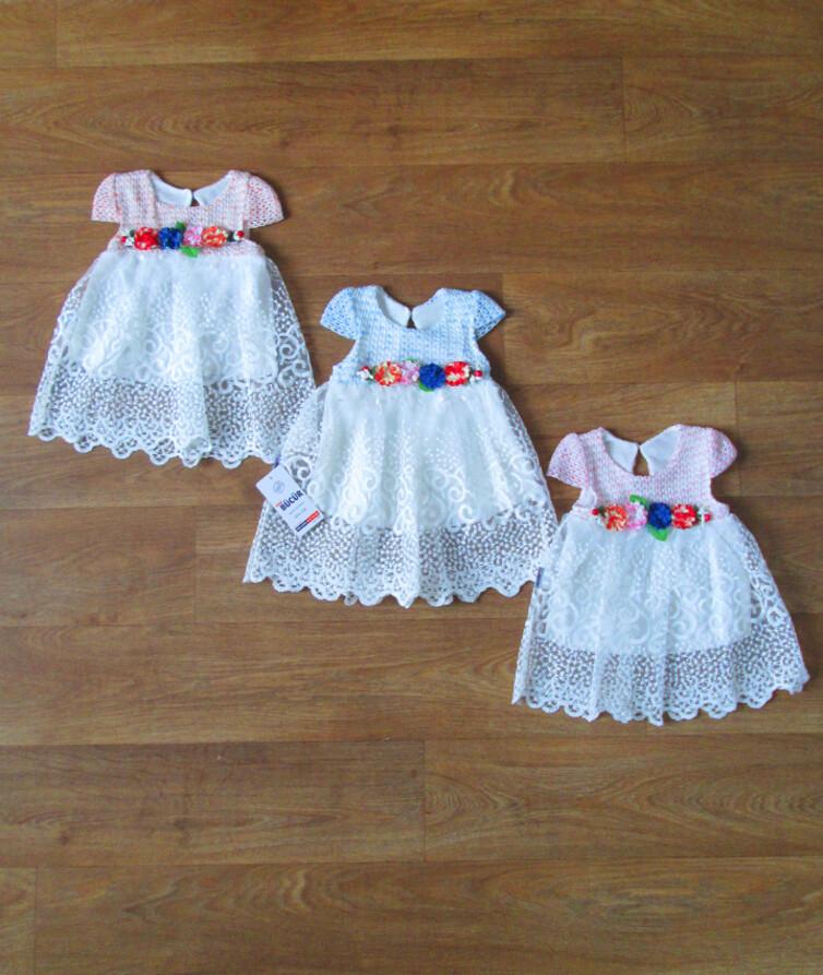 Кружевное ясельное  платье Турция  50% коттон, 50% полиэстр