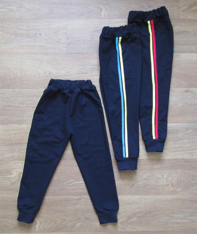 Детские спортивные штаны с лампасами зауженые