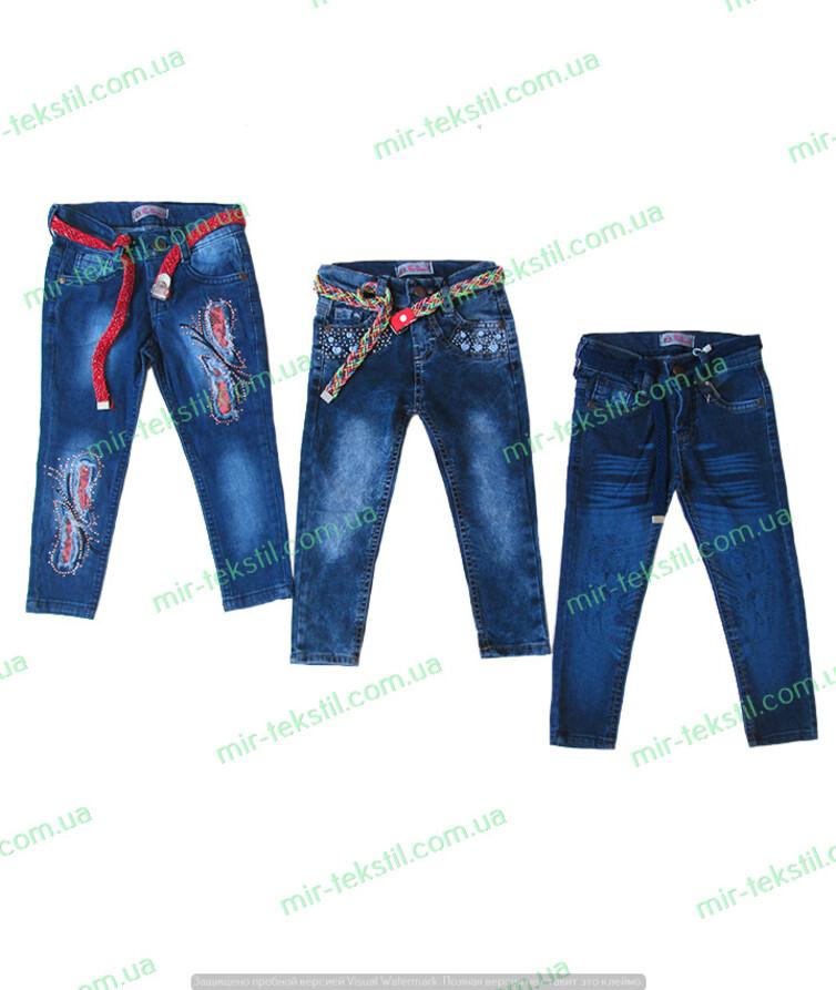 турецкие стрейчевые джинсы на девочку с поясом