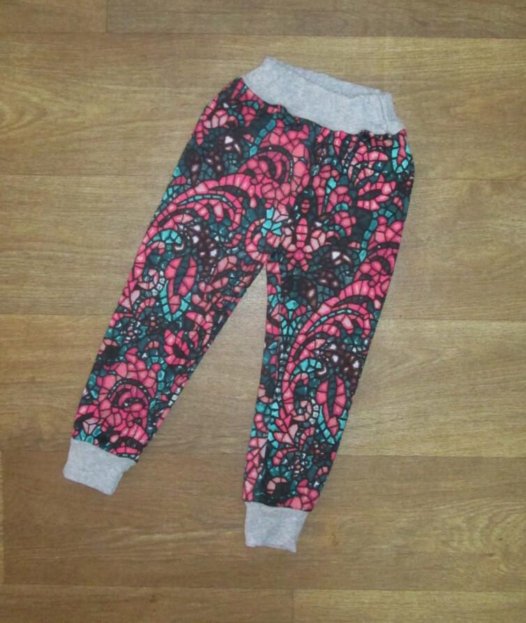 Детские штаны для девочки, двухнитка