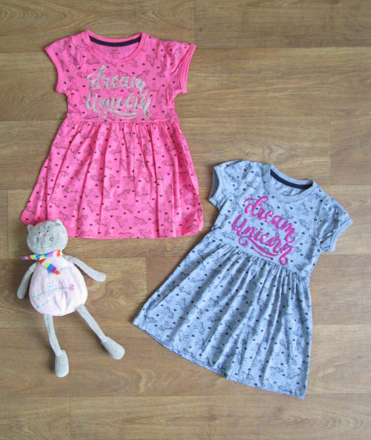 Платье для девочки летнееТурция Mini Citlenbik кулир цветной, накат в пайетках