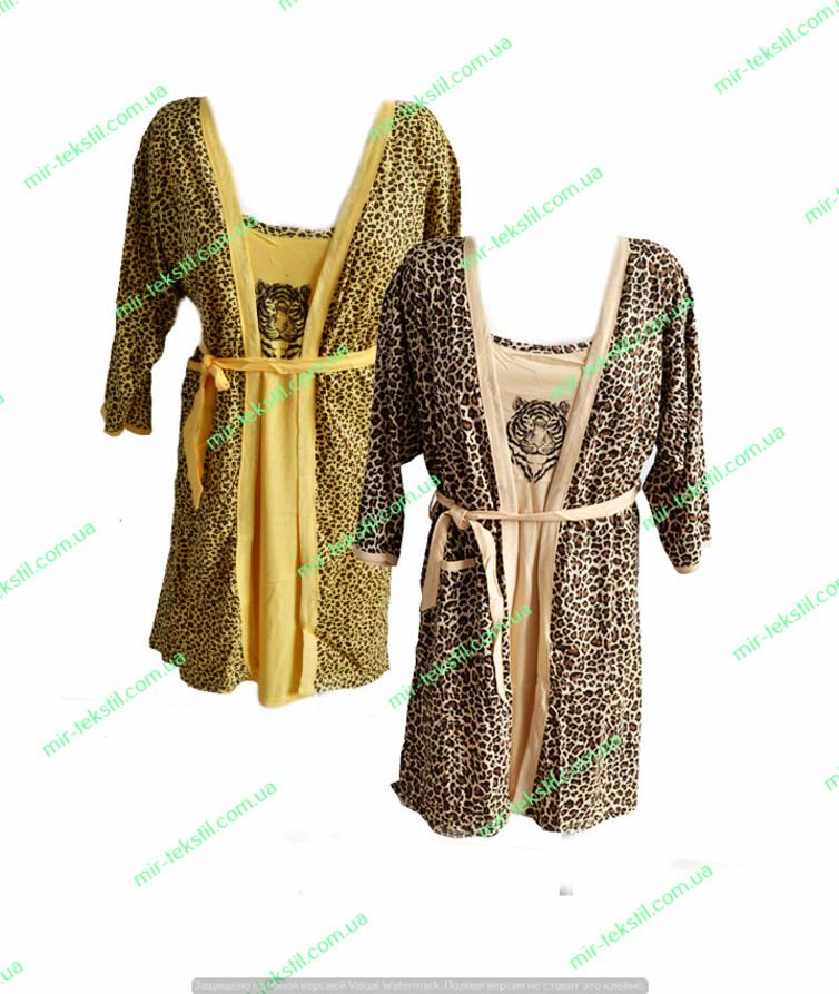 Комплект женский 2-ка халат,ночная рубашка х/б