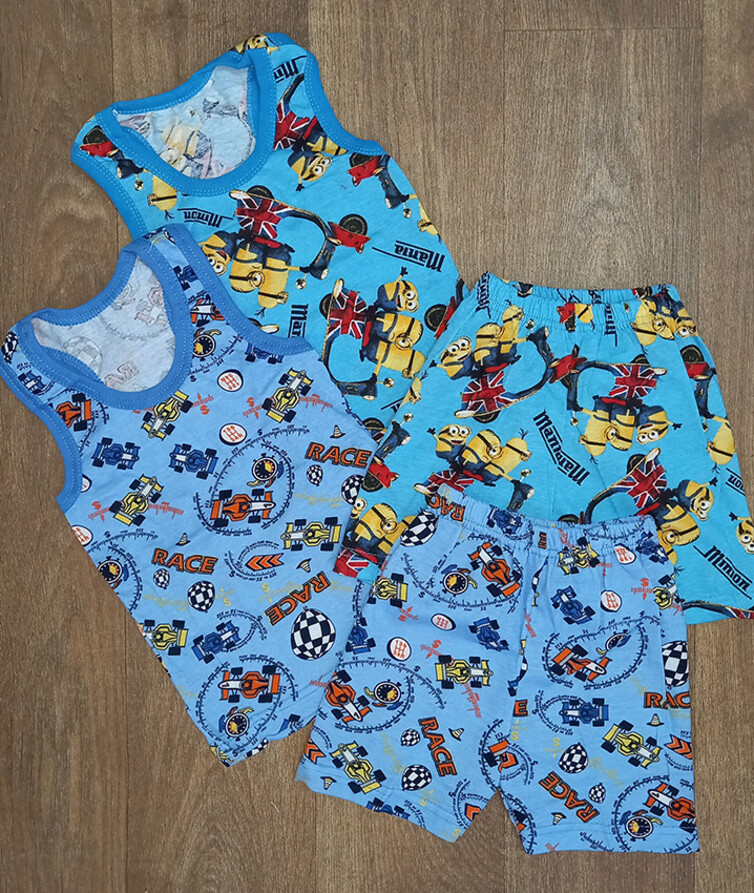 Костюм летний на мальчика борцовка с шортами для мальчика кулир