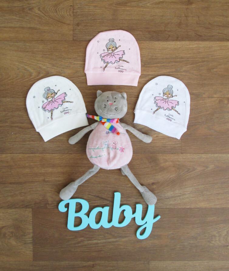 Шапочка для новорожденных на девочку турецкая