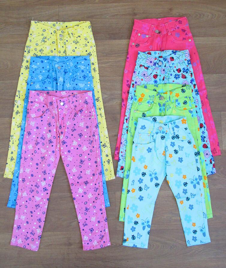 Летние яркие джинсы на девочку турецкие Aldino Jeans 95% коттон, 5% полиэстр