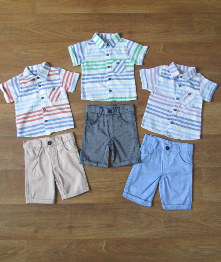 Костюм летний для мальчика с рубашкой турецкий Efbey kids лен