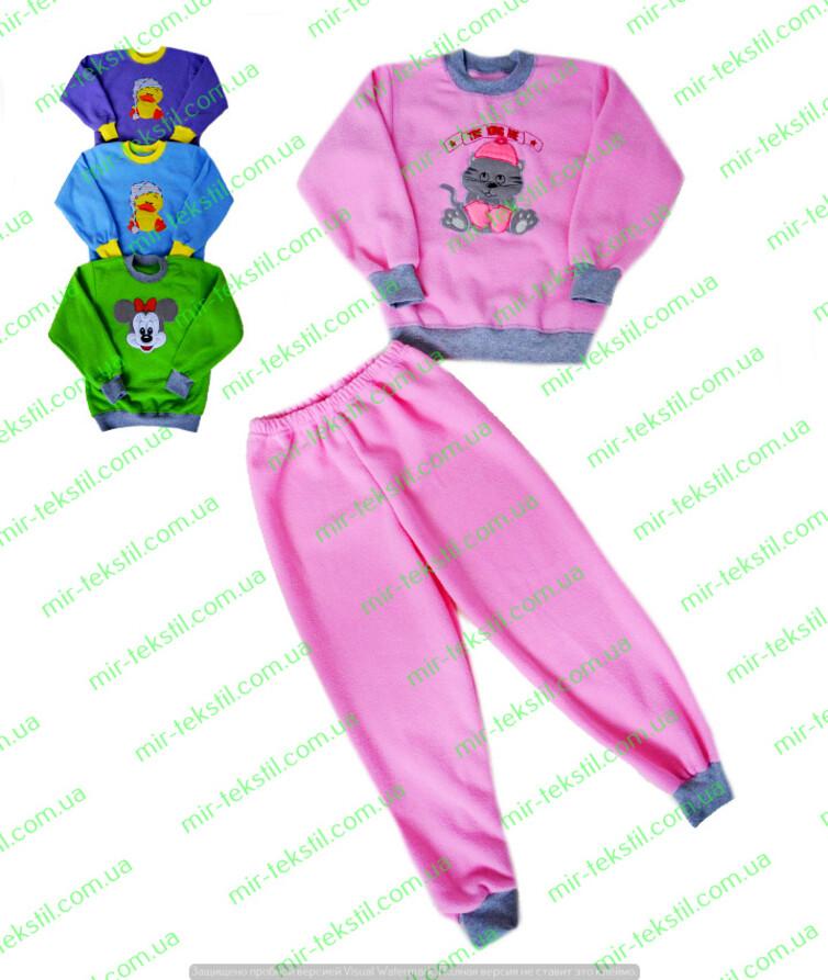 махровая женская пижама с вышивкой