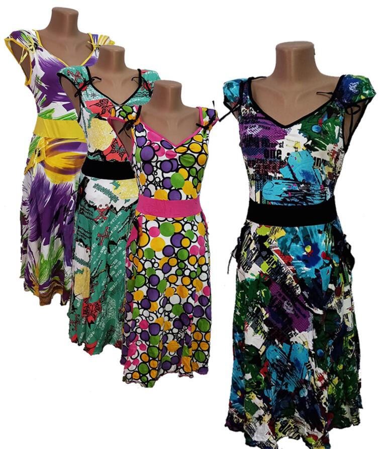 Женское платье с вырезом, вискоза