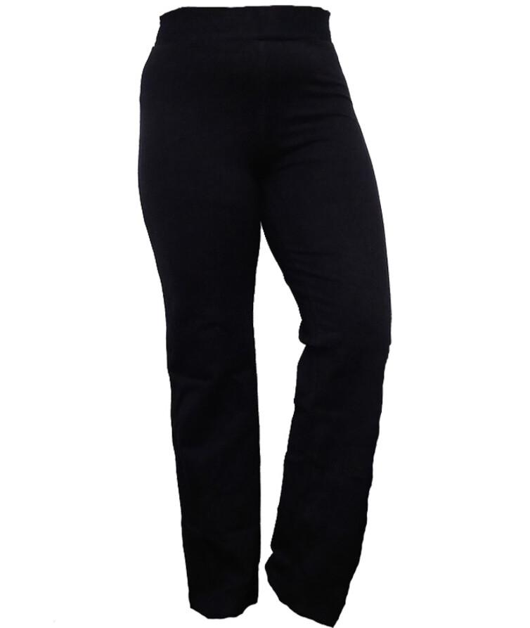 Женские штаны палаццо (черные), двухнитка