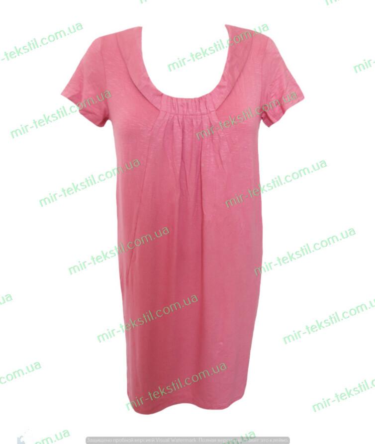 Платье женское розовое с коротким рукавом вискоза