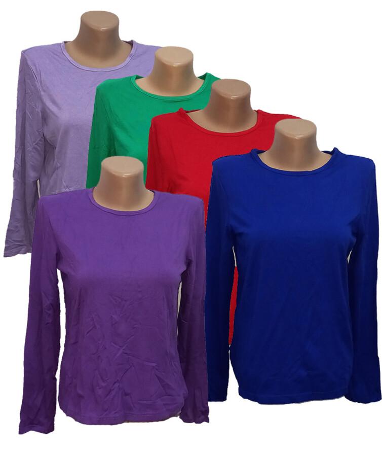 Женская футболка с длинным рукавом, вискоза