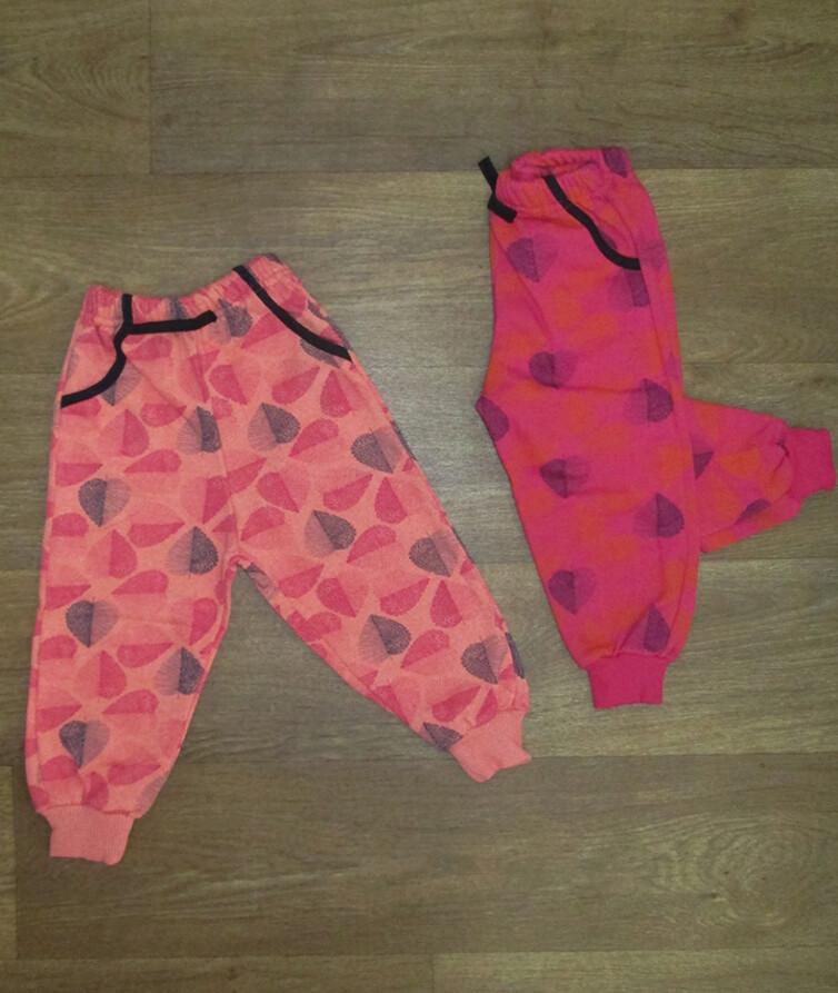 Детские теплые штаны для девочки турецкие, начес