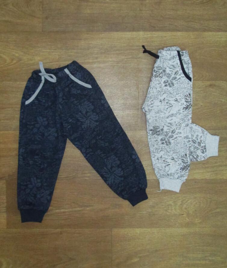 Детские спортивные штаны для мальчика с карманами Турция, начес