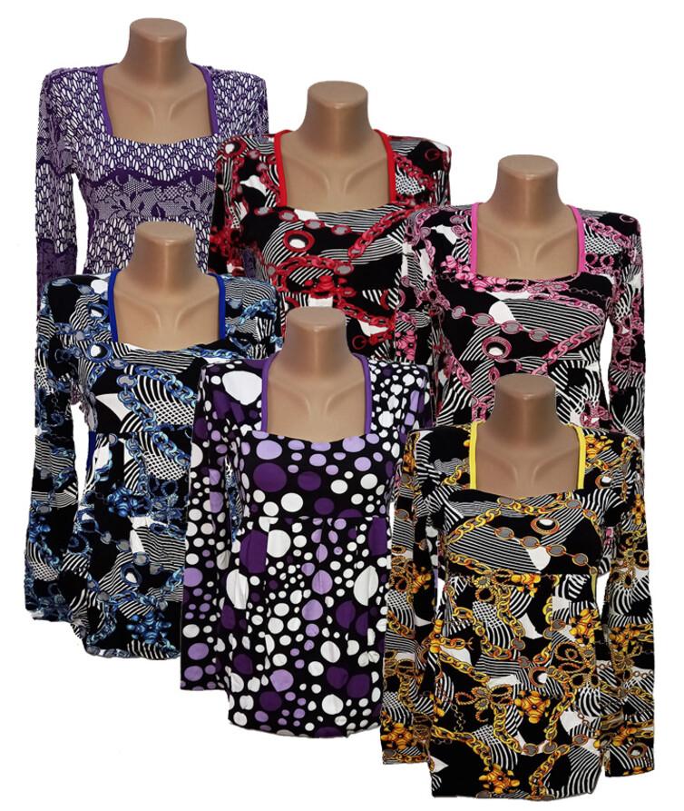 Женская кофта с длинным рукавом (карман - кенгуру), вискоза