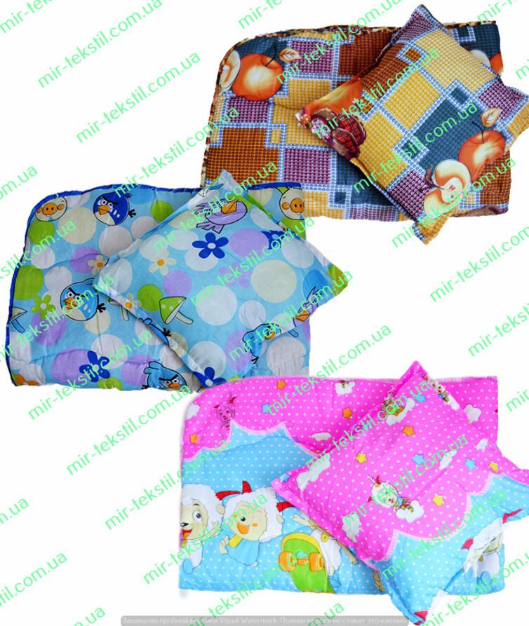 Одеяло детское с подушкой синтепон бязь