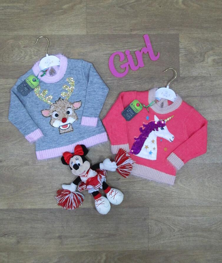 Детский свитер для девочки турецкий, вязаный