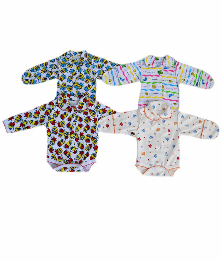 Боди для новорожденных с длинным рукавом интерлок