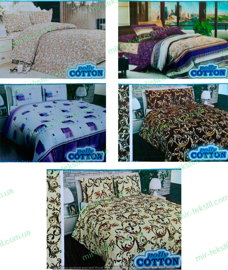 Комплект постельного белья поликоттон двуспальный  (простынь 210*180, пододеяльник 210*180, наволочка(2шт) 70*70)