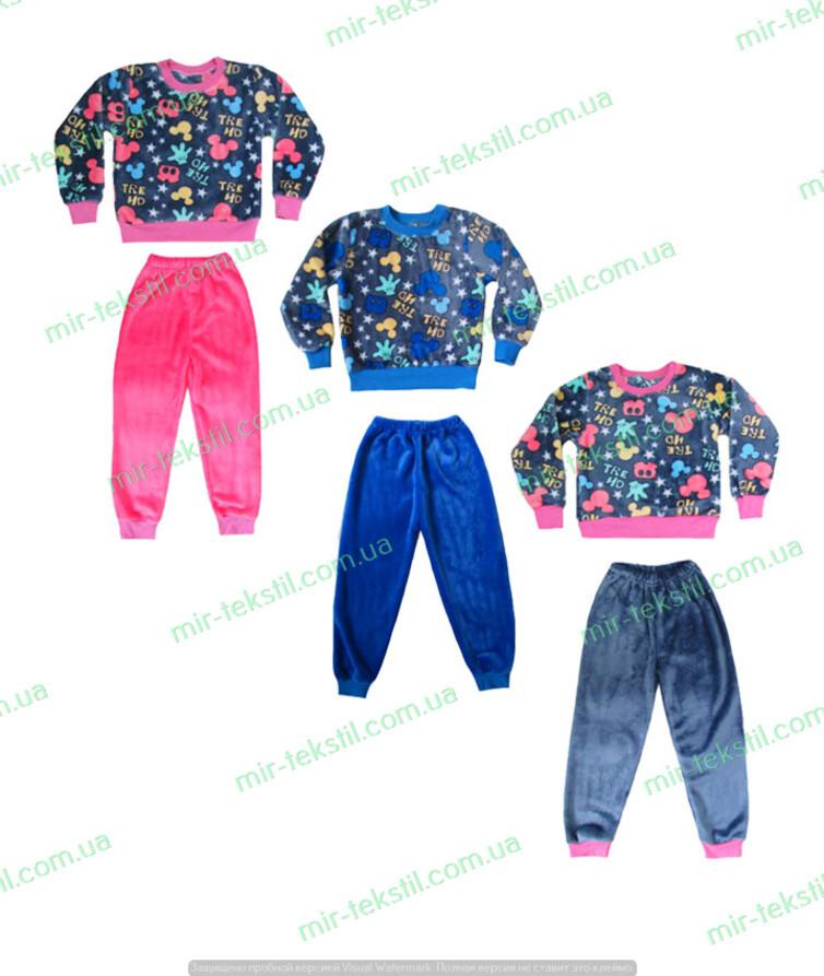 Пижама детская яркая велсофт