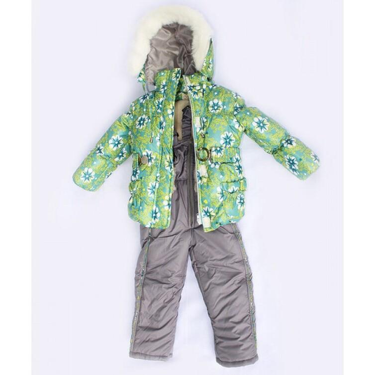 Куртка с комбинезоном для девочки зима,  плащевка водоотталкивающая, мягкая, однотонная, наполнитель - силиконизированный синтепон - зима 200, Подстежка - жилетка из овчинки