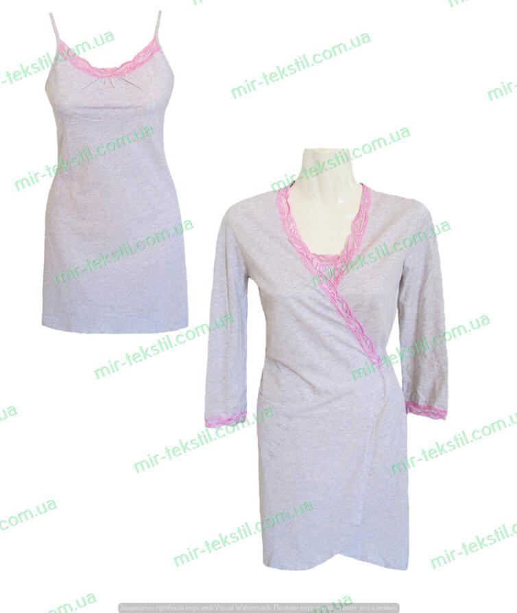 Комплект женский халат с ночной рубашкой